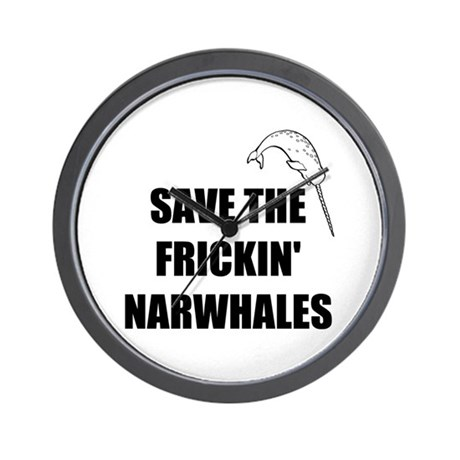 NarWhale Wall Clock