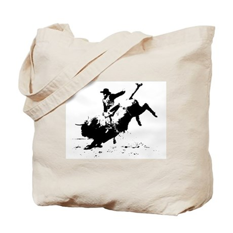 Tote Bag - B&W Rodeo Art