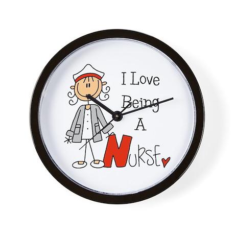 I Love Being A Nurse Wall Clock