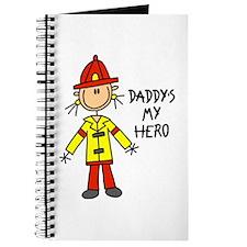 Daddy's My Hero Fireman Journal