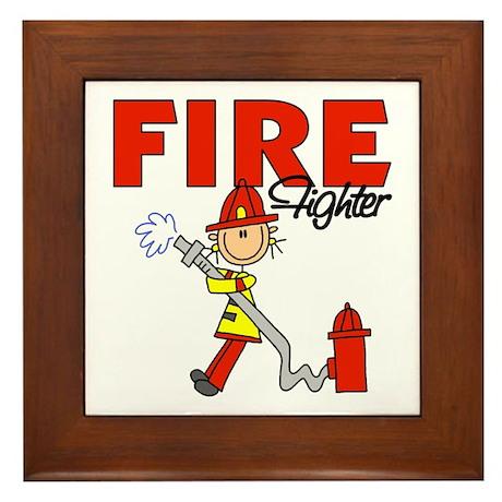Firefighter Framed Tile