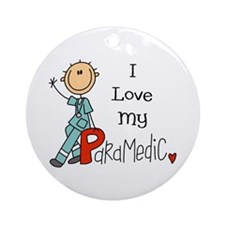 I Love My Paramedic Ornament (Round)