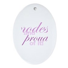 Modest and Proud of It Oval Ornament