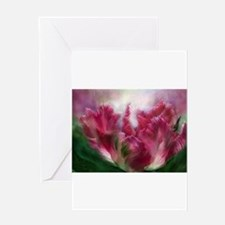 Unique Flowers rose iris boulder Greeting Card