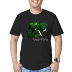 Leafy Green Party Men's Fitted T-Shirt (dark)