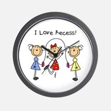 I Love Recess Wall Clock