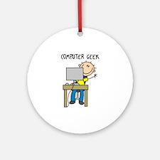 Computer Geek Ornament (Round)