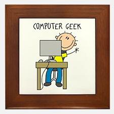 Computer Geek Framed Tile