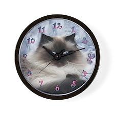 Himalayan Kitten Wall Clock