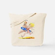 funny beach life guard mercha Tote Bag