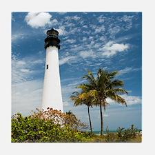 Cape Florida Lighthouse Tile Coaster