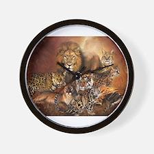 Cute Big cats Wall Clock