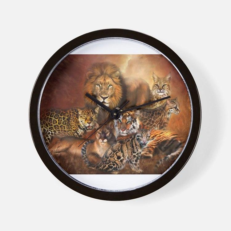 Cute Wild cat Wall Clock