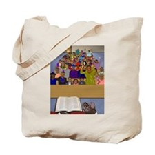 Sunday Sermon / Praise Him Tote Bag