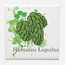 Humulus Lupulus II Tile Coaster