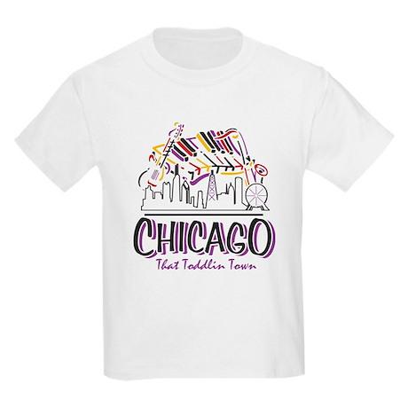 Chicago That Toddlin Town Kids Light T-Shirt