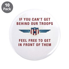 "Get Behind Our Troops 3.5"" Button (10 pack)"