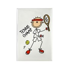 Tennis Champ Rectangle Magnet