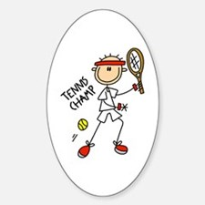 Tennis Champ Oval Decal