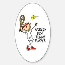 World's Best Tennis Player Oval Decal