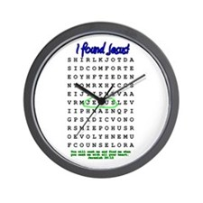 Jesus Word Search! I Found Je Wall Clock
