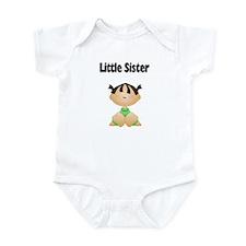 Dark Hair Little Sister Baby Bodysuit