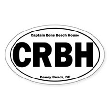 Captain Rons Oval Decal