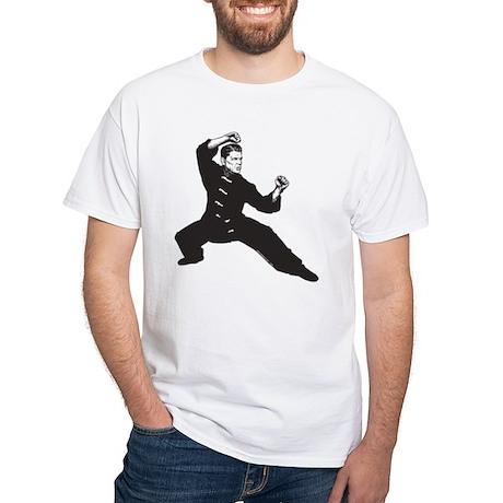 Kung Fu Reagan White T-Shirt