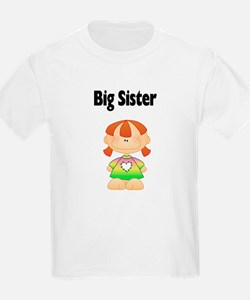 Red Head Big Sister Kids T-Shirt