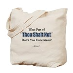 Thou Shalt Not Tote Bag