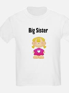 Blonde Big Sister Kids T-Shirt