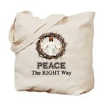 Peace Sign / Jesus Tote Bag