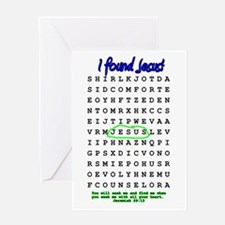 Jesus Word Search! I Found Je Greeting Card