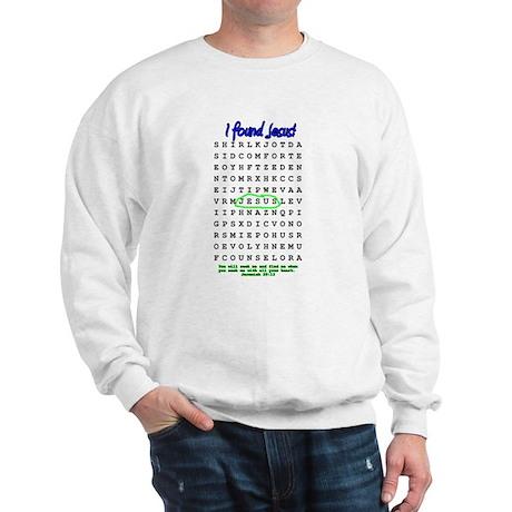Jesus Word Search! I Found Je Sweatshirt