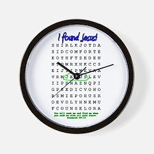Jesus Word Search! I Found Je Wall Clock