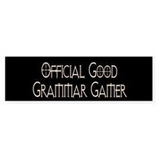 Official Good Grammar Gamer Bumper Bumper Sticker