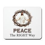 Peace Sign / Jesus Mousepad