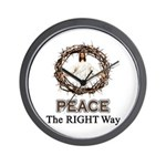 Peace Sign / Jesus Wall Clock