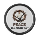 Peace Sign / Jesus Large Wall Clock