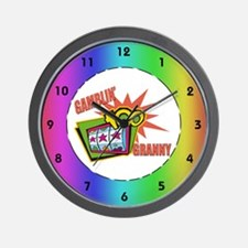 Gambling Granny Wall Clock