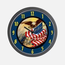 Patriotic American Wall Clock