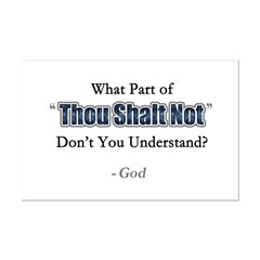 Thou Shalt Not Posters