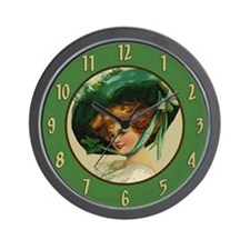 Irish Lass Wall Clock