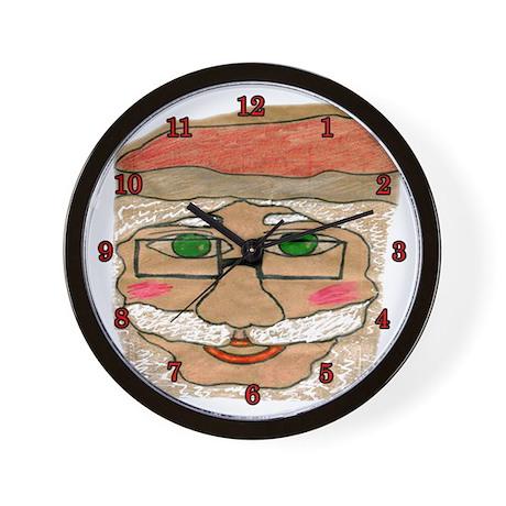 Brown Bag Santa Wall Clock