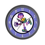 Woman Tennis Player Wall Clock