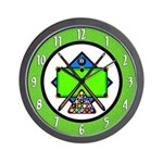Billiards Game Wall Clock