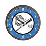Baseball Players Wall Clock
