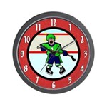 Funny Ice Hockey Wall Clock