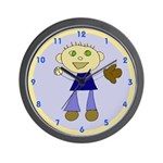 Boy Baseball Wall Clock