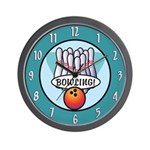 Bowlers Bowling Wall Clock